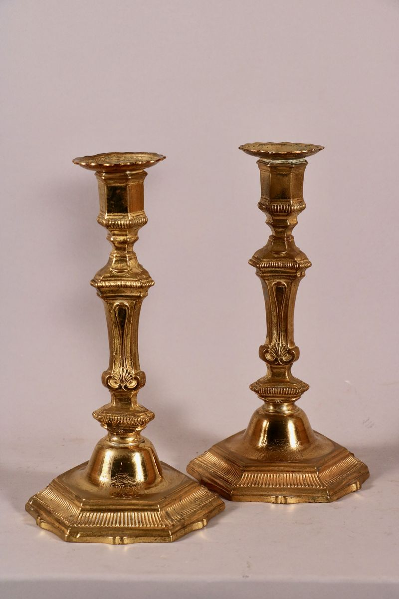 Pair Of Candlesticks With Arms Of The Marquis Of Cornulier