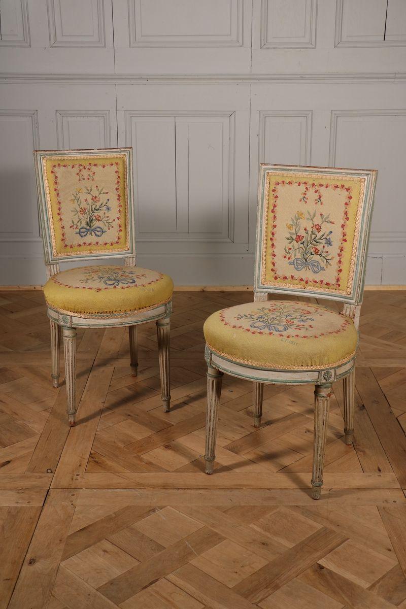 Paire De Chaises d'époque Louis XVI