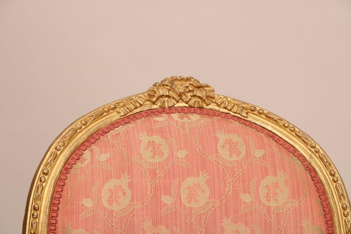 Bergère d'époque Louis XVI En Bois Doré