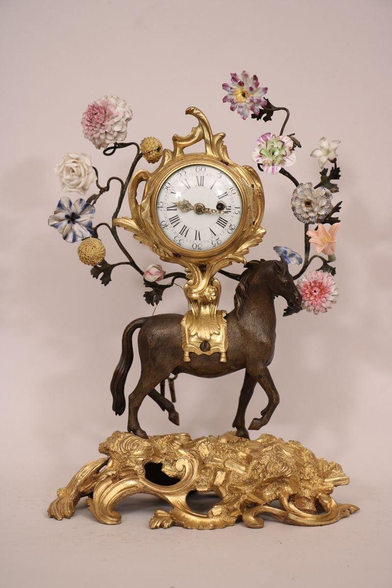 Pendulette Au Cheval d'époque Louis XV
