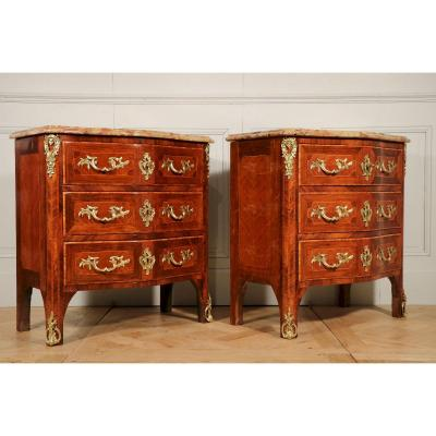 Pair Of Commodes Louis XV