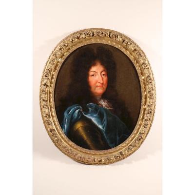 Portrait De Louis XIV, d'Après H. Rigaud, Début Du XVIIIe Siècle