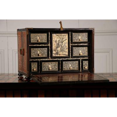 Cabinet Ebony And Bone, Seventeenth Century