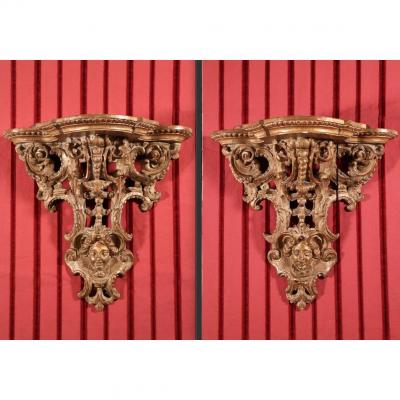 Pair Of Consoles Of Applique, Regency Period