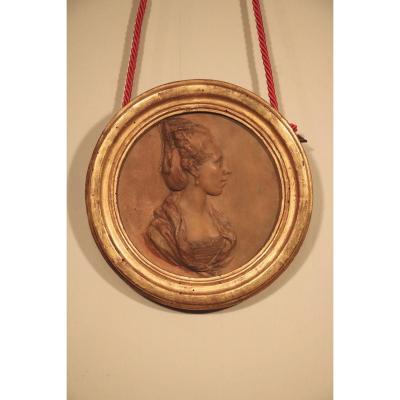 Médaillon En Terre Cuite Louis XVI