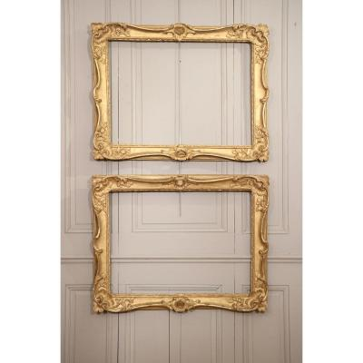 Pair Of Frames In Golden Wood