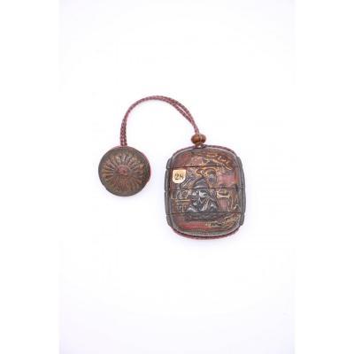 Inro à 4 Cases époque Edo 17 ème Siècle