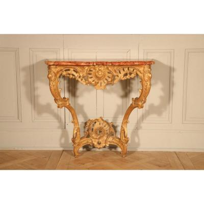 Wall Console In Golden Wood