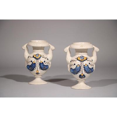 Pair Of Earthenware Altar Vases