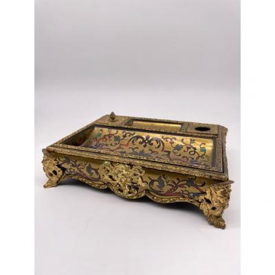 Boulle Marquetry Inkwell