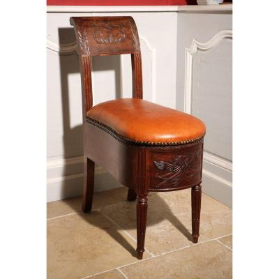 Mahogany Bidet From The Castles Of Rambouillet And Fontainebleau