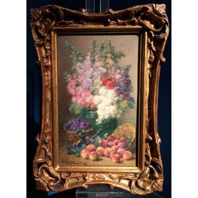 Claude Eugène (1841-1922) - Flowers And Fruits