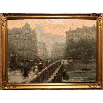 MIRO ILLEO Gaspar (1859-1930) Pont Lafayette Lyon