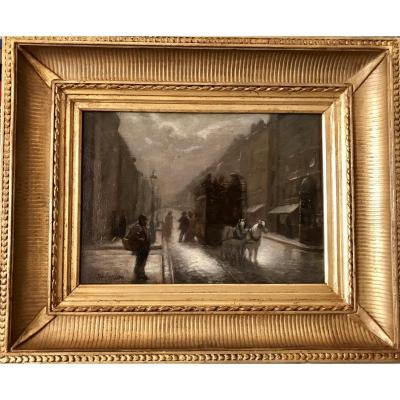 MORISOT Auguste (1857-1951) - Rue animée