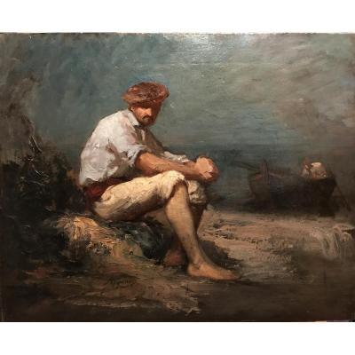 APPIAN Adolphe (1818-1898) - Pécheur basque