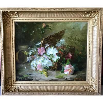 GUERIN Thérèse (1861-1933) - Jeté de fleurs