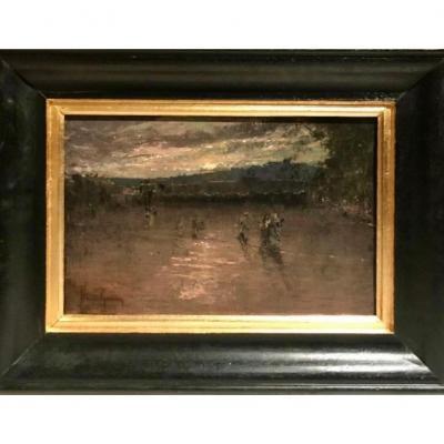 GIRIN David (1848-1917) - La Place Bellecour