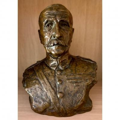 DAVIDSON JO (1883-1952) - Maréchal Foch Statue en bronze