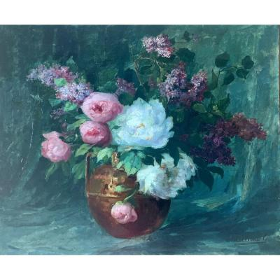 Tableau De Fleurs De Milloud-miley 1875-1931