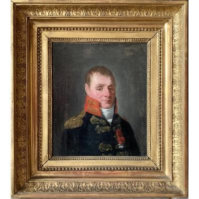 Portrait époque Empire   Général de la  Marine