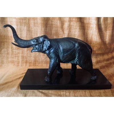 Sculpture, Bronze Animalier De André-Vincent Becquerel 1893-1981