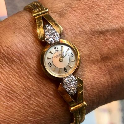 Montre Femme Jaeger Lecoultre or diamants