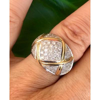 Bague Or 18ct Diamants