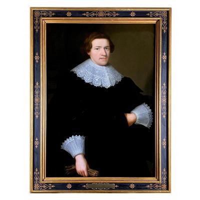 PORTRAIT D'UN JEUNE NOBLE  17ÈME SIÈCLE - CERCLE DE CORNELIUS JOHNSON (1593-1661)