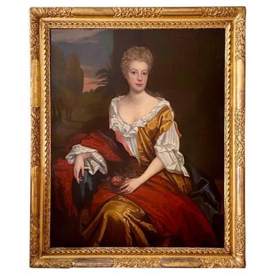 Portrait De Lady Morgan C.1700 - Cercle De Jan Van Der Vaart (1647-1721).
