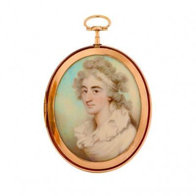 Miniature Portrait De Dame Du XVIIIe Siècle - Par Charles Shirreff (1750-1829)