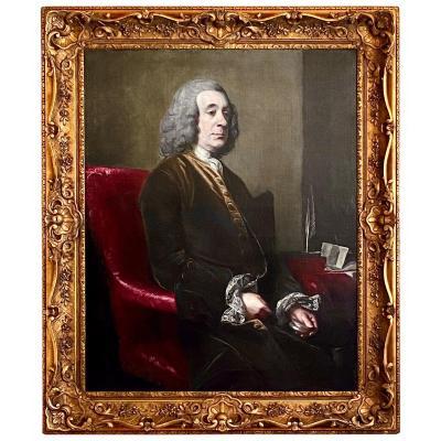 Portrait Anglais Du 18ème Siècle d'Un Gentleman - Studio De Sir Joshua Reynolds (1723-1792)