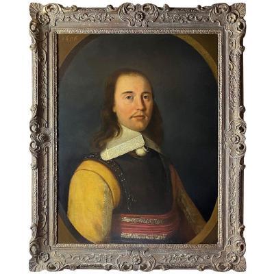 PORTRAIT D'OFFICIER ANGLO-HOLLANDAIS DU 17ÈME SIÈCLE  (1656)