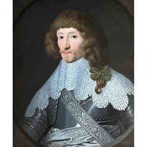 PORTRAIT D'UN CAVALIER FRANÇAIS - CERCLE DE GERRIT VAN HONTHORST (1592-1656)