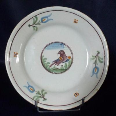 Plate In Faience
