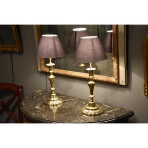 Paire De Lampes En Bronze