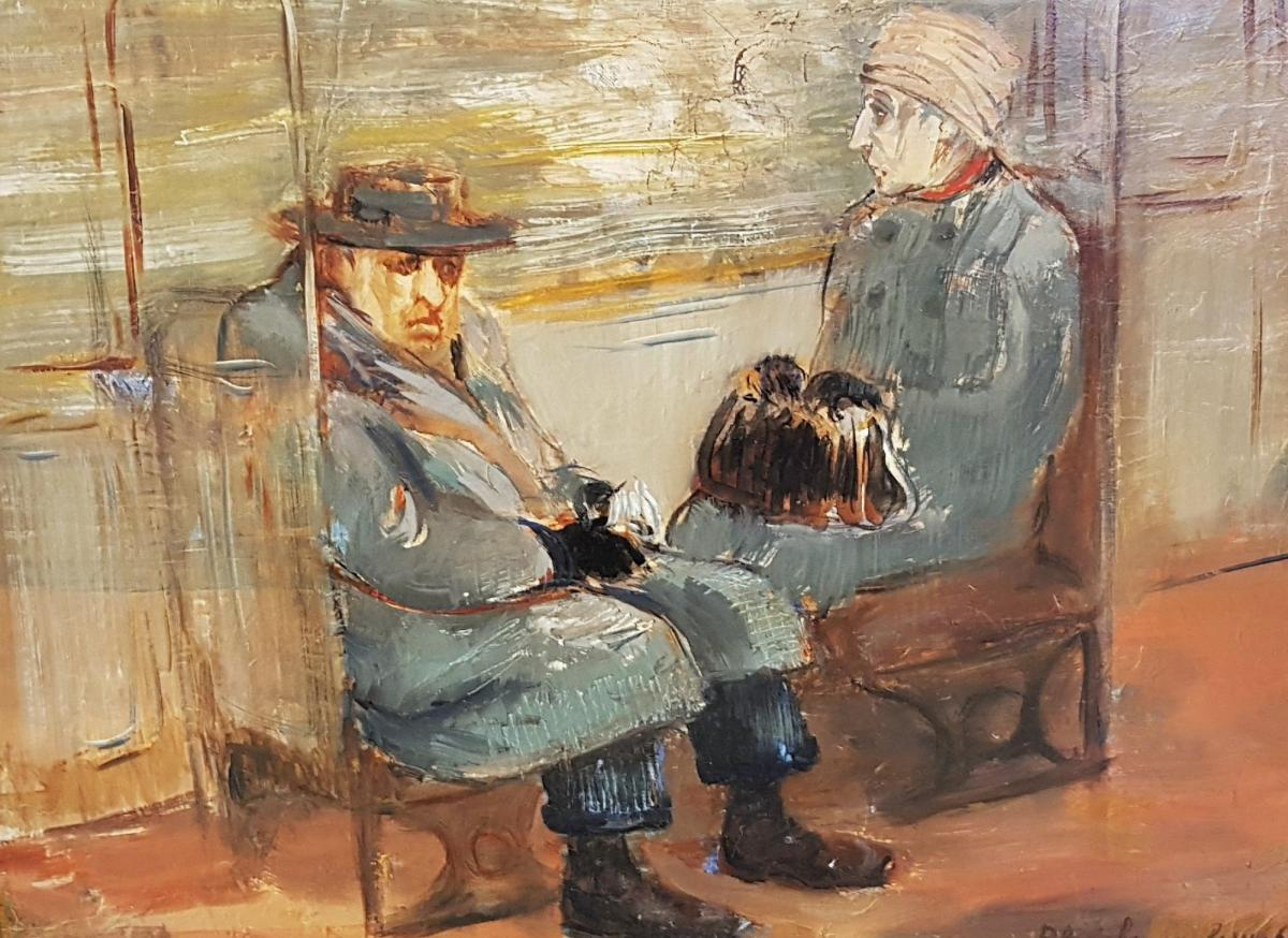 Table Parisian Subway Scene Blanche Van Parys