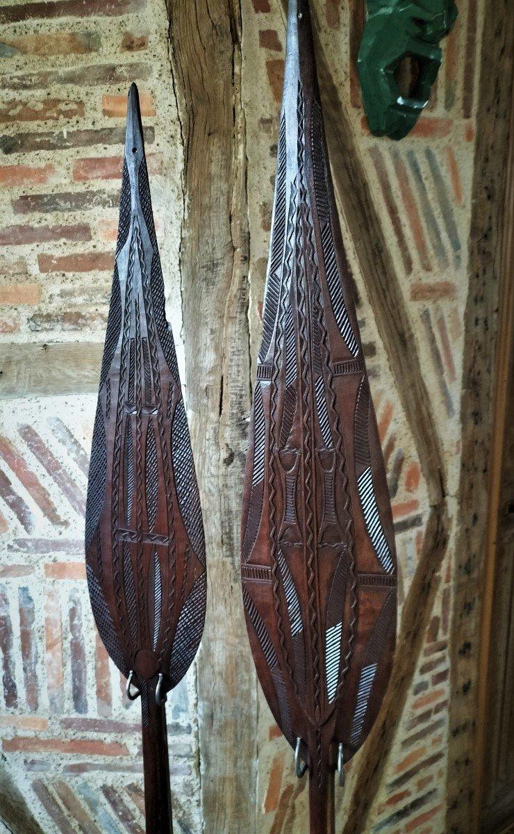 Paire De Pagaie Cérémonielle Amazonie-photo-2
