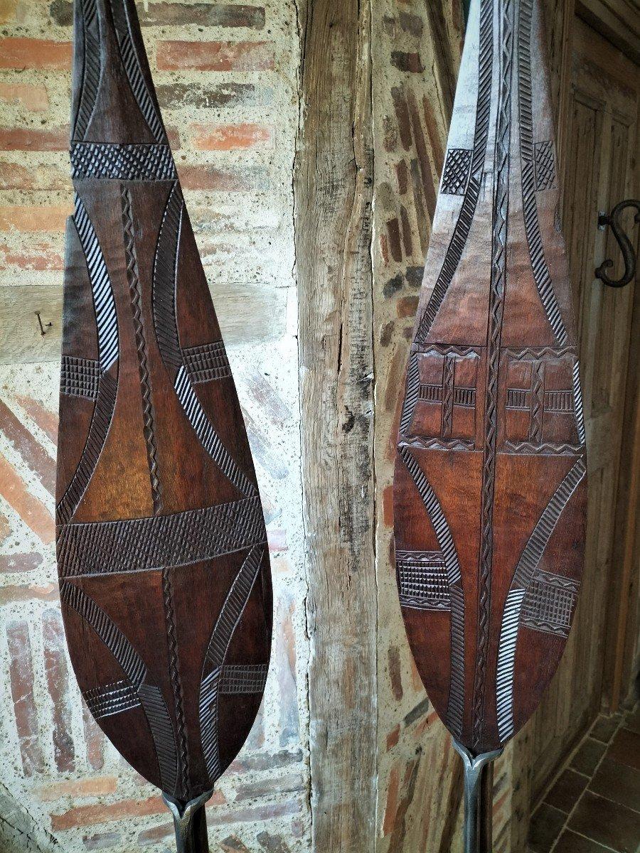 Paire De Pagaie Cérémonielle Amazonie-photo-3
