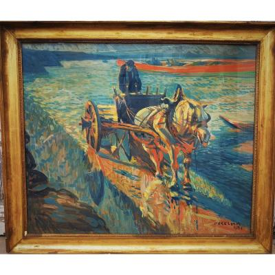 Painting: Russian School Expressionist Horse