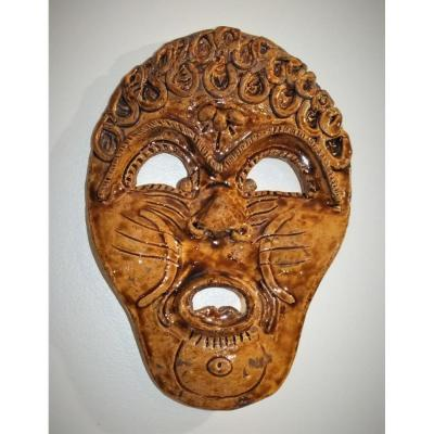Grotesque Mask In Sandstone