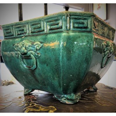 Chine Cache Pot Grès Ming XVII ème Siècle
