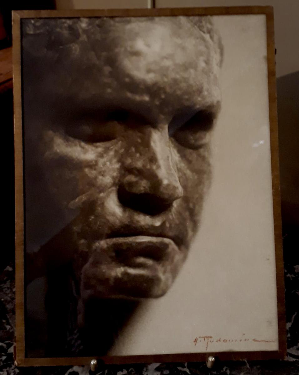 "Albert Rudomine ""beethoven De Rodin"" Photographie Originale"