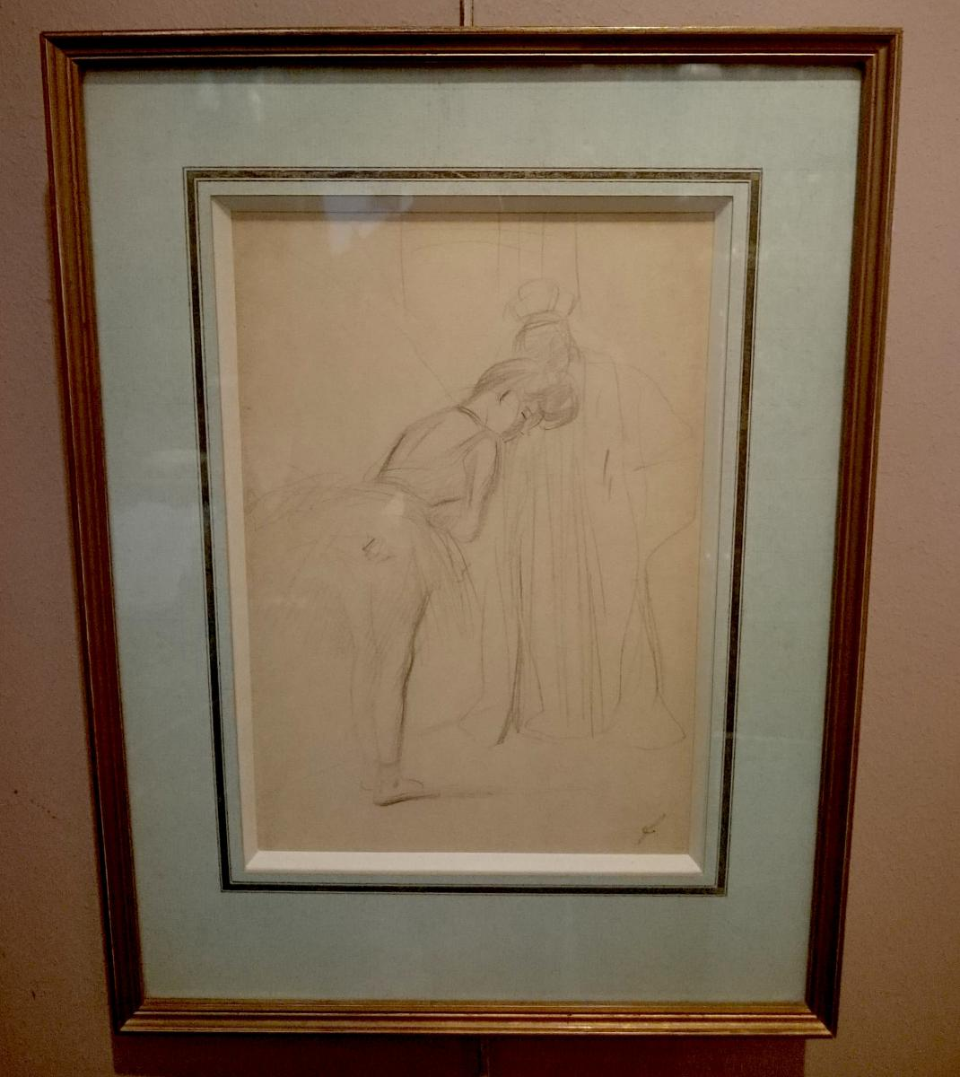 Dancer, Drawing By Jean Louis Forain