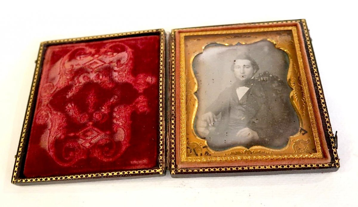 Portrait Daguerréotype De Voyage