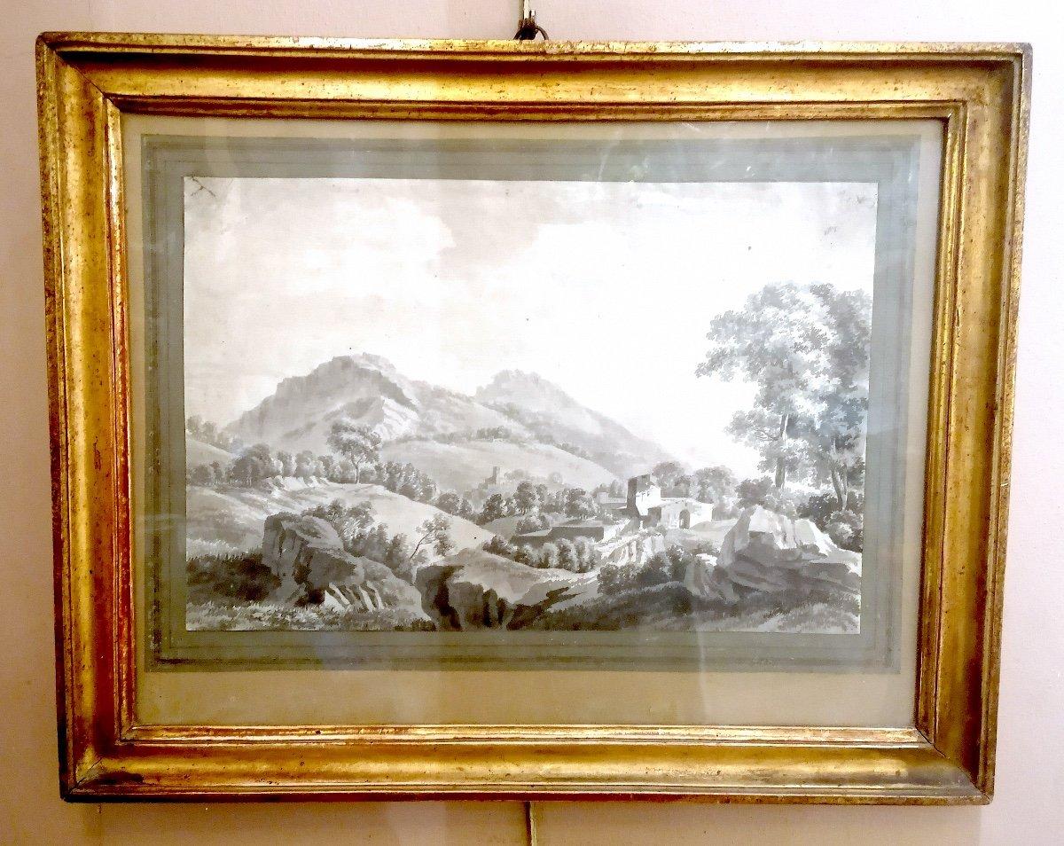 18th Century Lavis Drawing