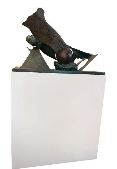 Bronze «Feu, Ombre, Pénombre», 1984, édition 1/1 Par Ipoustéguy-photo-2
