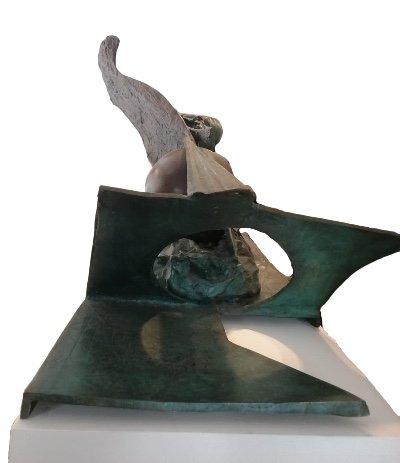 Bronze «Feu, Ombre, Pénombre», 1984, édition 1/1 Par Ipoustéguy-photo-4