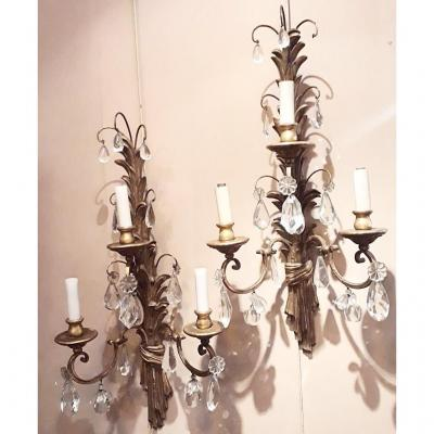 Gilded Wood Appliques And Pendants 18th