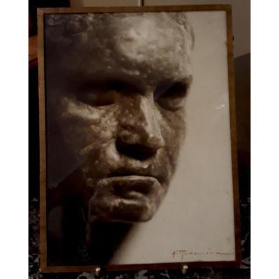 "Albert Rudomine ""beethoven De Rodin"" Original Photograph"
