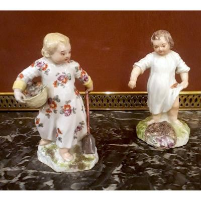 Paire De Figurines Porcelaine début 19ème siècle